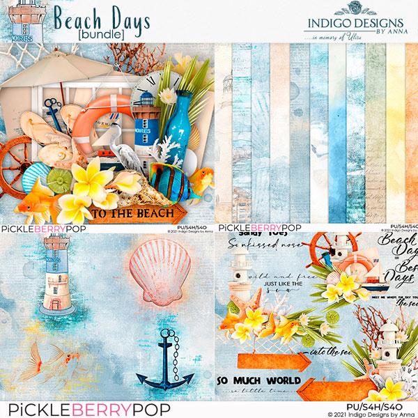 Beach Days Bundle by Indigo Designs by Anna