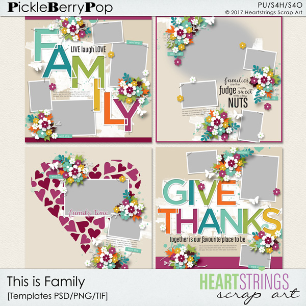 Pickleberrypop :: Templates :: This is Family Templates