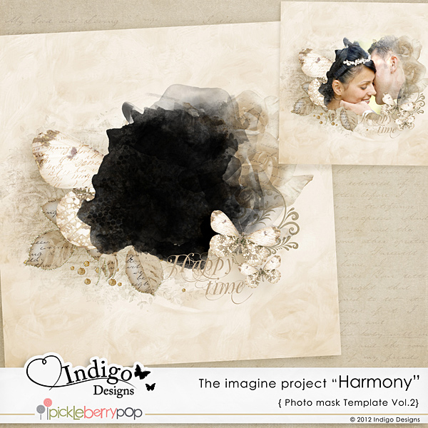 "Photo Mask Template ""Harmony"" Vol.2"
