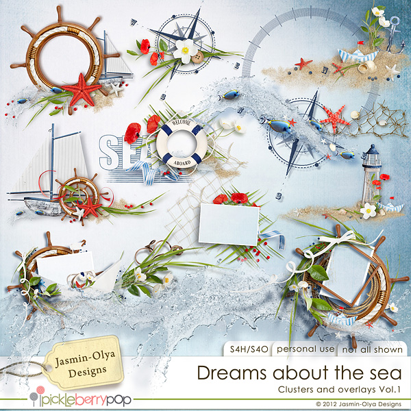 Dreams about the sea - Clusters Vol.1 (Jasmin-Olya Designs)