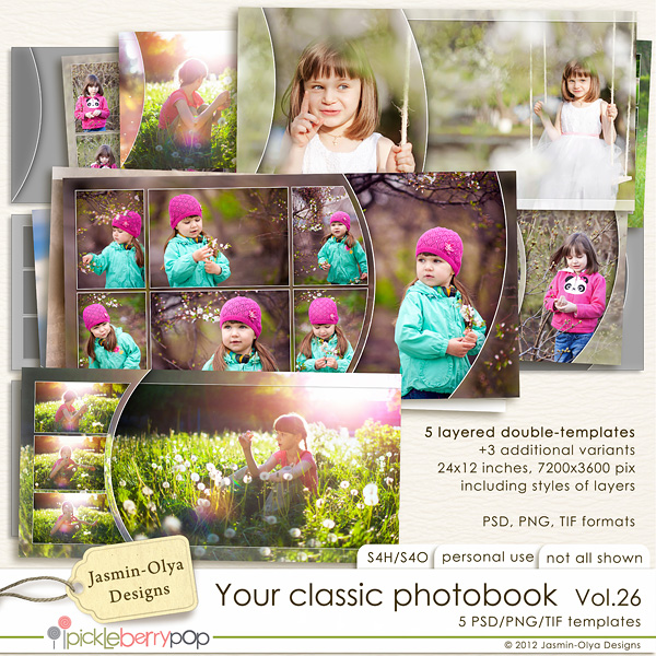 How To Make A Book Cover In Photo Elements : Pickleberrypop templates your classic photobook vol