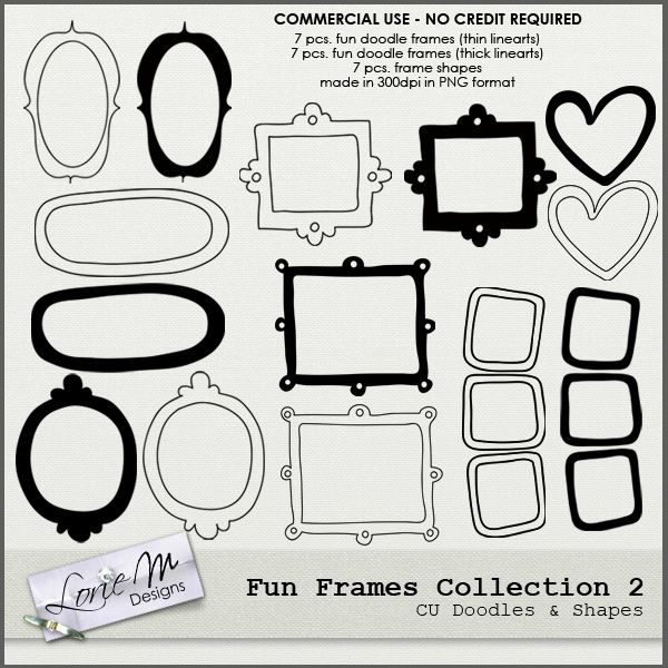 Pickleberrypop :: Element Packs :: *Brushes :: Fun Frames Collection ...
