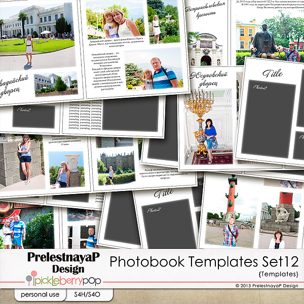 Photo Album Examples: PiCKLEBERRYPOP Digital Scrapbook Designs