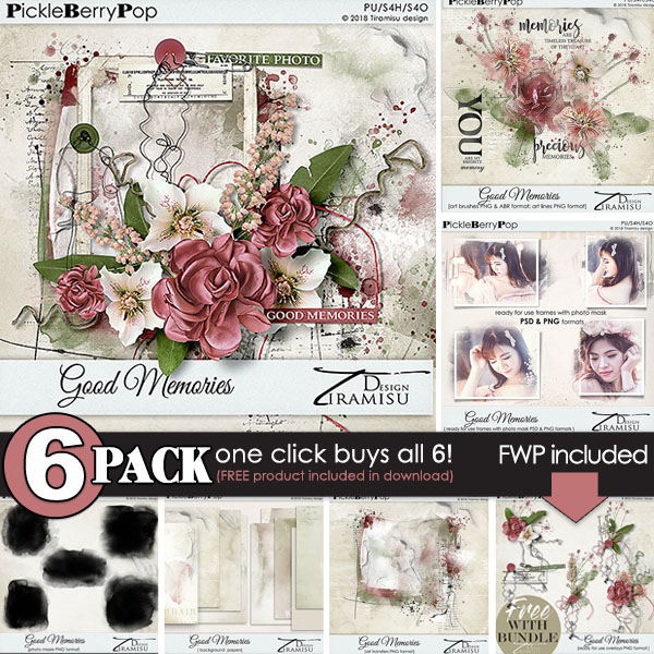 Good Memories {6-Pack plus FWP} by Tiramisu design