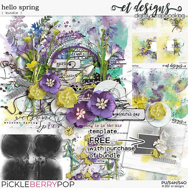 Hello Spring Bundle plus Quickpages & *BONUS* FREE Template