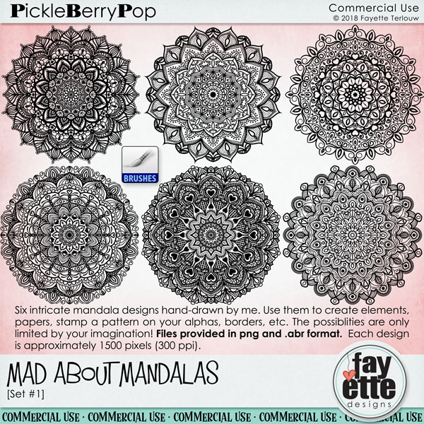 Mad About Mandalas - CU Set #1 by Fayette Designs