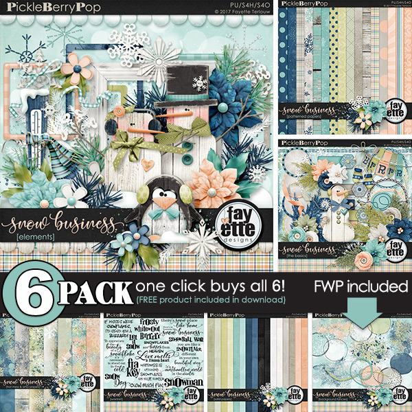 Snow Business {6-Pack plus FWP} by Fayette Designs