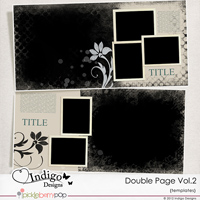 Double Page Templates with Mask Vol.2