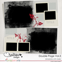 Double Page Templates with Mask Vol.3