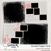 Double Page Templates with Mask Vol.8