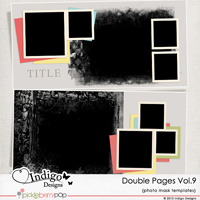 Double Page Templates with Mask Vol.9