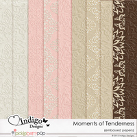 Moments of Tenderness Embossed Papers