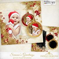 Season's Greetings Photo Mask Template