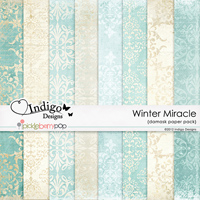 Winter Miracle Damask Papers