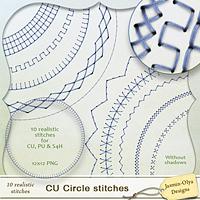 CU Circle stitches