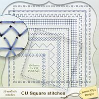 CU Square stitches