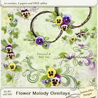Flower Melody Overlays+FREE Addon (Jasmin-Olya Designs)