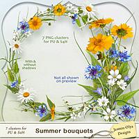 Summer Bouquets - clusters set (Jasmin-Olya Designs)