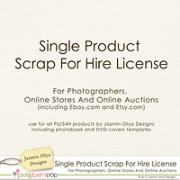 Single Product Scrap For Hire(S4H) Use License (Jasmin-Olya Designs)