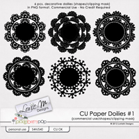 CU Paper Doilies #1 (Shapes/Clipping Mask)