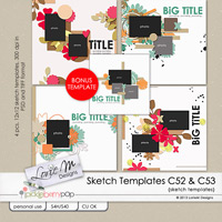 Sketch Templates Collection 52 & 53 Bundle