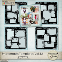 Photomasks templates Vol.12 by PrelestnayaP Design