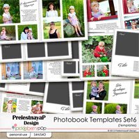 Photobook templates set 6 by PrelestnayaP Design