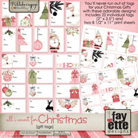 All I Want for Christmas Gift Tags by Fayette Designs