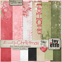 All I Want for Christmas Hot Mess & Solid Papers by Fayette Designs