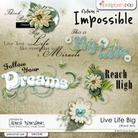Live Life Big Word Art Clusters