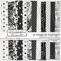 A Magical Midnight patterned papers by Lara�s Digi World