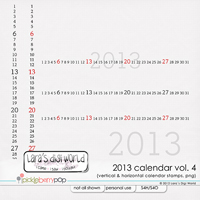Calendar 2013 dates Vol. 4 + FWP by Lara�s Digi World