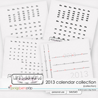 Calendar 2013 dates collection + FWP by Lara�s Digi World