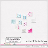 Chocolate Birthday alpha by Lara�s Digi World