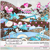 Chocolate Birthday borders by Lara�s Digi World