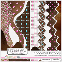 Chocolate Birthday border templates by Lara�s Digi World