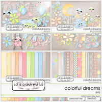 Colorful Dreams bundle by Lara�s Digi World