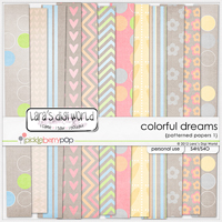 Colorful Dreams papers patterned 1 by Lara�s Digi World