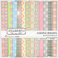 Colorful Dreams papers patterned 2 by Lara�s Digi World