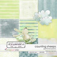 Counting Sheeps patterned papers by Lara�s Digi World