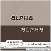 Cardboard Passion Alpha by Lara�s Digi World