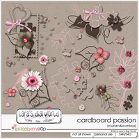 Cardboard Passion Clusters and Overlays by Lara�s Digi World