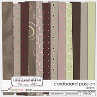 Cardboard Passion Papers by Lara�s Digi World