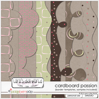 Cardboard Passion Border Templates by Lara�s Digi World