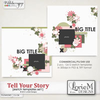 Tell Your Story Sketch Templates 1
