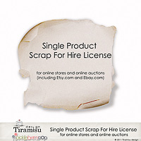 Tiramisu design Single Product Scrap For Hire(S4H) Use  License For Online Stores And Online Auctions