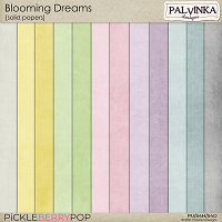 Blooming Dreams Solid Papers