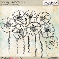 Today´s Moments Doodles and Stitches