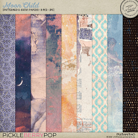 Moon Child Patterned And Artsy Papers