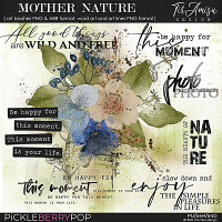 Mother Nature ~ brushes and word art